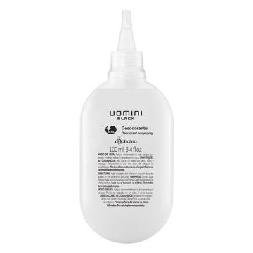 25148 Desodorante Spray Uomini Black Refil Boticário 100ml