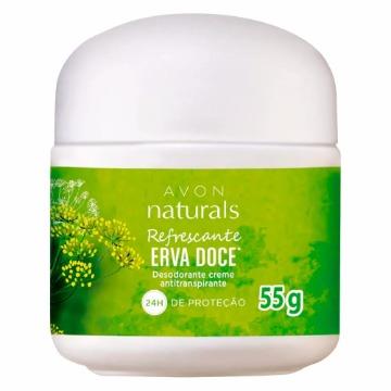 511800 Desodorante Creme Naturals Erva Doce Avon 55g