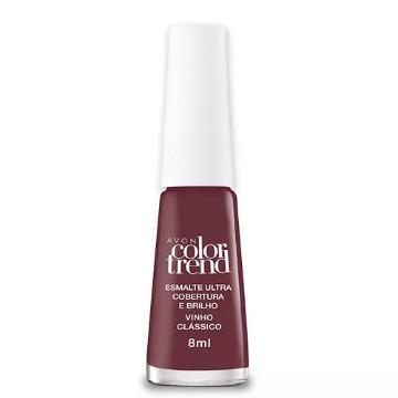 506876 Esmalte Colortrend Vinho Clássico Avon 8ml