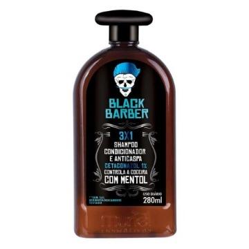 117043 Shampoo para Barba 3X1 Black Barber Muriel 280ml