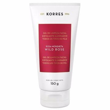 460097 Gel de Limpeza Facial Esfoliante Iluminador Korres Rosa Mosqueta 150g
