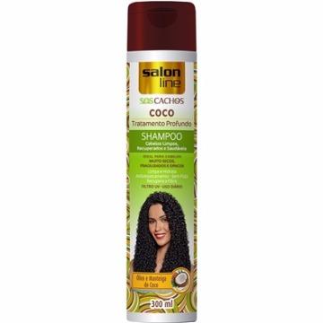 34849 Shampoo S.O.S Cachos Coco Tratamento Profundo Salon Line 300ml