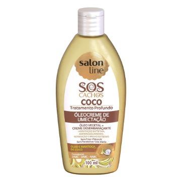 952973 Óleo Creme Umectação S.O.S Coco Salon Line 100ml