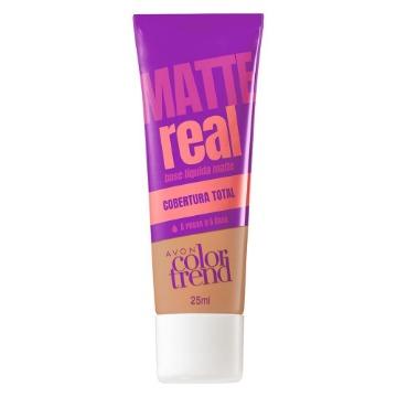 511126 Base Matte Real Colortrend Rosado Médio Avon 25ml