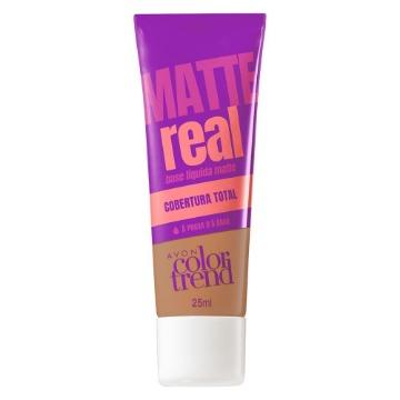 511173 Base Matte Real Colortrend Bege Escuro Avon 25ml