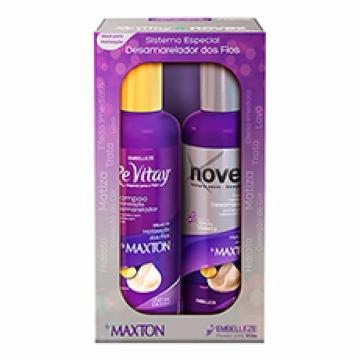 55292 Kit Shampoo+Condicionador Maxton Revitay Desamarelador Novex 2x250ml