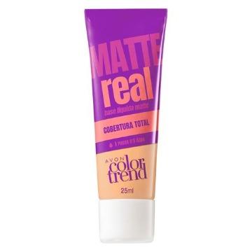 511105 Base Matte Real Colortrend Bege Claro Avon 25ml