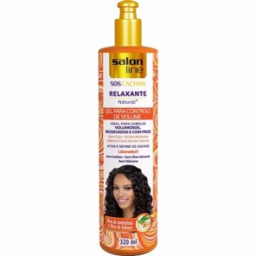 347021 Gel Relaxante Natural S.O.S Cachos Controle de Volume Salon Line 320ml