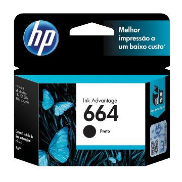 Cartucho Original Hp 664 Black F6v29ab Hp Deskjet  2ml