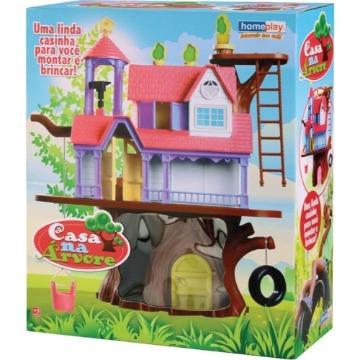 Casa Na Árvore Casinha De Boneca Completa Homeplay