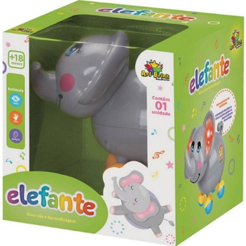 Baby Elefantinho Musical Cinza - Art Brink
