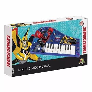 Teclado Musical Infantil Transformers Piano Com Musica E Som