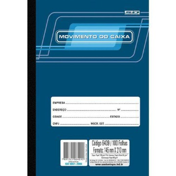 Livro Movimento Caixa Pequeno 100 Folhas