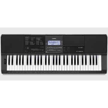 TECLADO MUSICAL CASIO INTERMEDIARIO DIGITAL PRETO MODELO CT-X800C2-BR