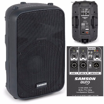CAIXA ATIVA SAMSON AURO X15D 1000W 2 VIAS BI-AMPLIFICADA