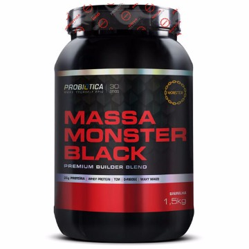 MASSA MONSTER BLACK - 1,5HG PROBIÓTICA BAUNILHA