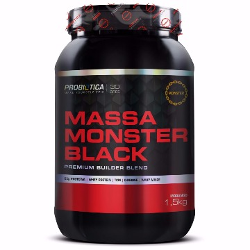 MASSA MONSTER BLACK - 1,5HG PROBIÓTICA MORANGO