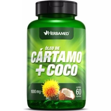 OLEO DE CARTAMO+COCO 60 CAPS 1000MG HERBAMED