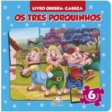 Livro Quebra-cabeça Pequeno: Os Três Porquinhos