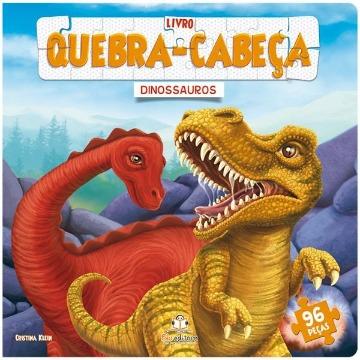 Livro Quebra-cabeça Grande: Dinossauros
