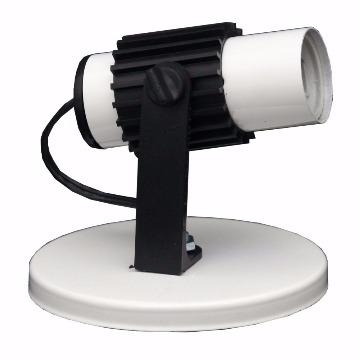 SPOT ALETADO 1 LAMPADA BRANCO/PRETO E27 MAX60W JR ILUMINAÇÃO