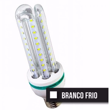 LAMPADA LED TIPO U VIDRO 7W FRIA 6400K BIVOLT DS