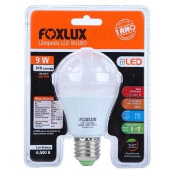 LAMPADA LED BULBO 09W 6500K A60 BIVOLT FOXLUX