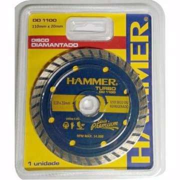 DISCO DIAM. TURBO 110X20MM HAMMER