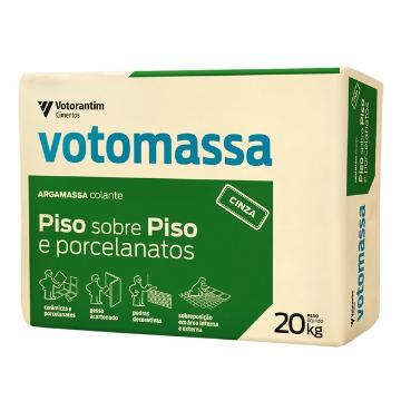 ARGAMASSA 10X1 PISO S/PISO E PORCELANATOS CINZA 20KG VOTOMASSA