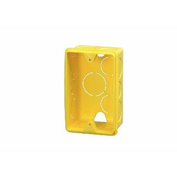 CAIXA DE LUZ 4X2 PVC AMARELA KRONA