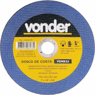 DISCO CORTE P/ CONCRETO 7X1/8X7/8 VONDER