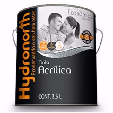 TINTA ACRÍLICA ECONÔMICA BRANCO 3,6LT HYDRONORTH