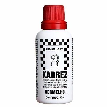 CORANTE LIQUIDO VERMELHO 50ML XADREZ