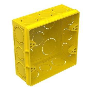 CAIXA DE LUZ 4X4 PVC AMARELA TIGRE