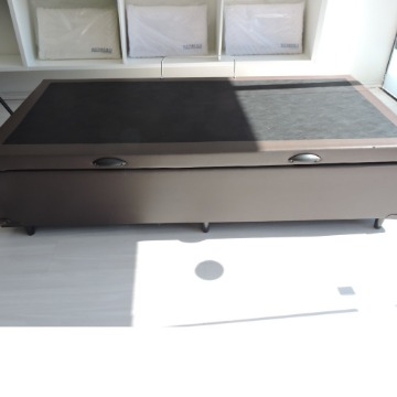 BOX BAÚ Solteiro 0,88 x 1,88  Corino / Suede
