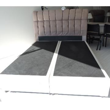 BOX BASE CASAL 1,38 x 1,88 x 0,26 Corino / Suede