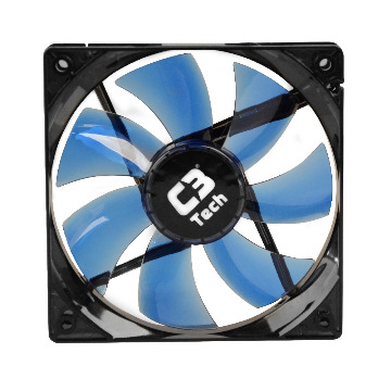Cooler C3Tech Gabinete 120x120x25mm F7-L100BL Azul