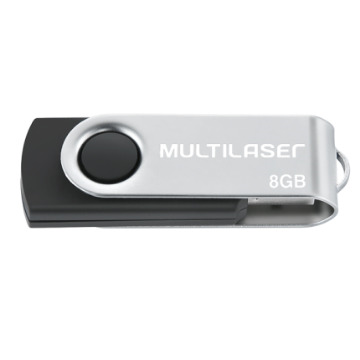 Pen Drive 8GB Multilaser PD587 Twist Preto