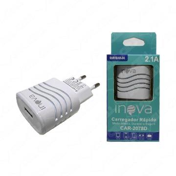 Carregador USB Inova CAR-2078D 2.1A 5V