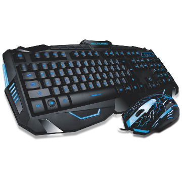 Kit Teclado e Mouse Multilaser TC195 Gamer Lightning
