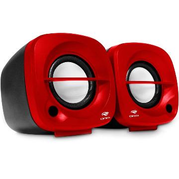 Caixa de Som C3 Tech SP-303RD 3WRMS 20 Canais Vermelha