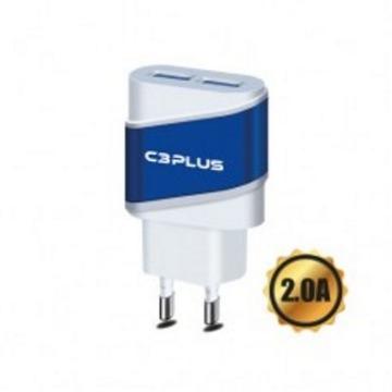 Carregador USB C3Plus UC-20 2 Portas USB 5v 2A