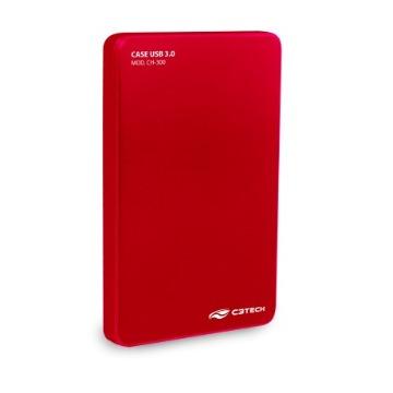 Case HD 2.5 C3Tech CH-300RD USB 3.0 Vermelho