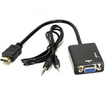 Conversor HDMI x VGA com Áudio