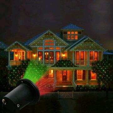 Espeto de jardim laser.