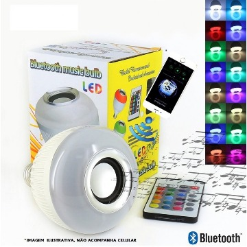 LÂMP LED BULBO 6W RGB BIV SOM C/BLUETOOTH