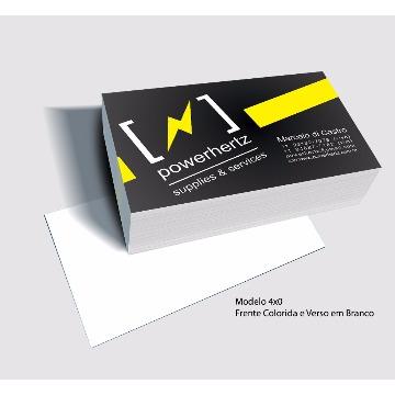 Cartão de Visita - 1000 un - 4x0 - 250g - Verniz Total Frente