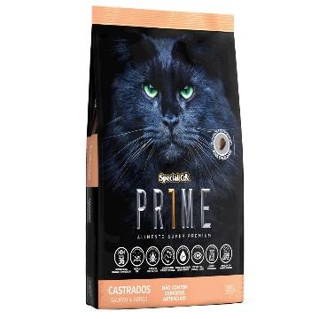 Special Cat Prime Super Premium para Gatos Adultos - Salmão e Arroz 1kg