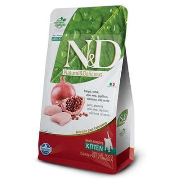 Ração Farmina N & D Grain Free Frango Kitten para Gatos Filhotes 1,5kg