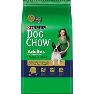 Dog Chow Adultos - raças pequenas frango e arroz 1kg